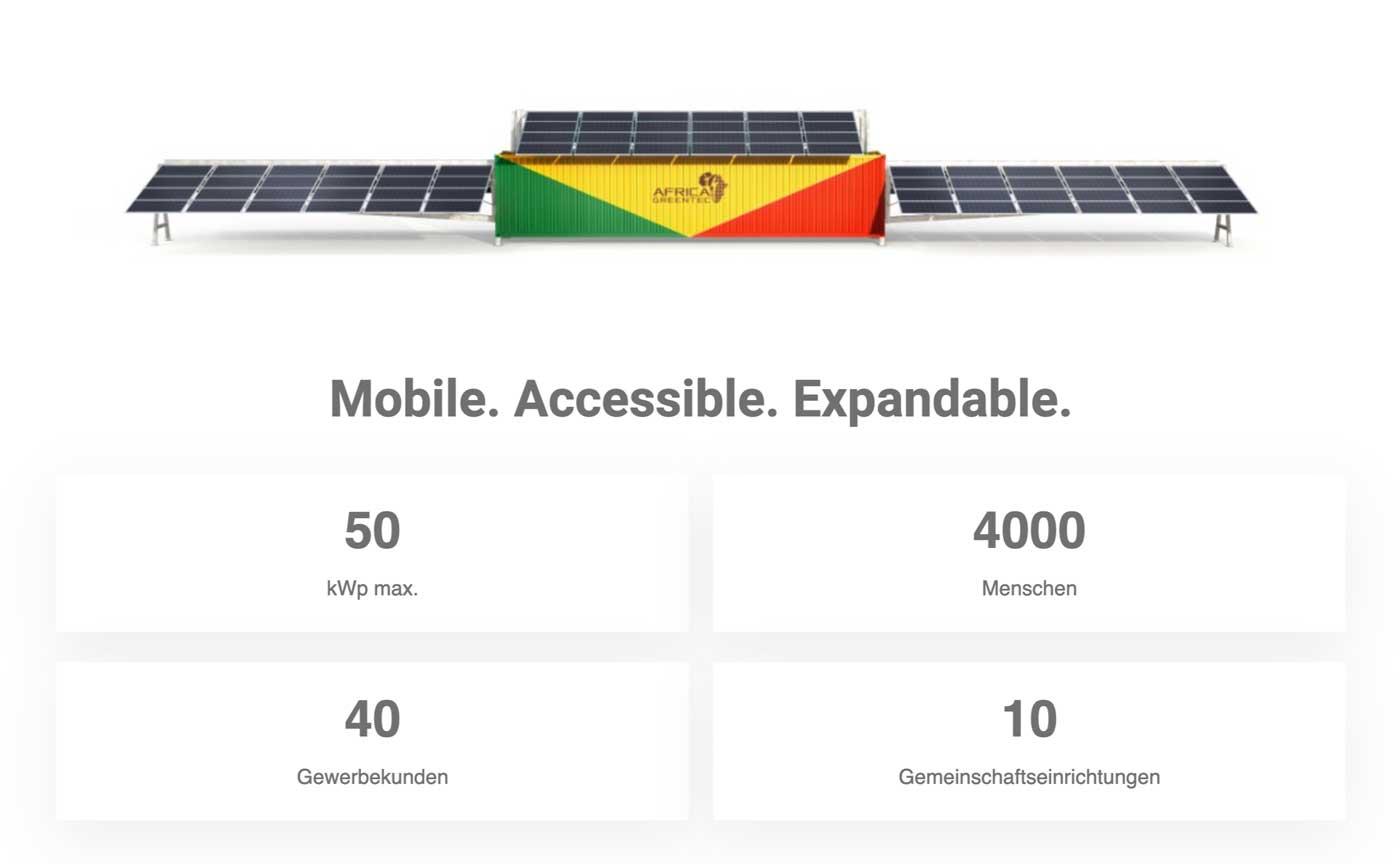 Solartainer Fakten